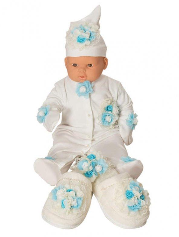 Mecit 5li Bebek Tulum ve Lohusa Terlik Taç Seti 205