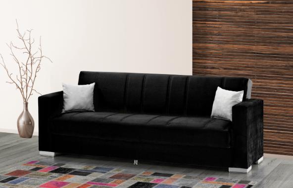Mega Kanepe - Siyah Beyaz (Sandıklı ve Yataklı)