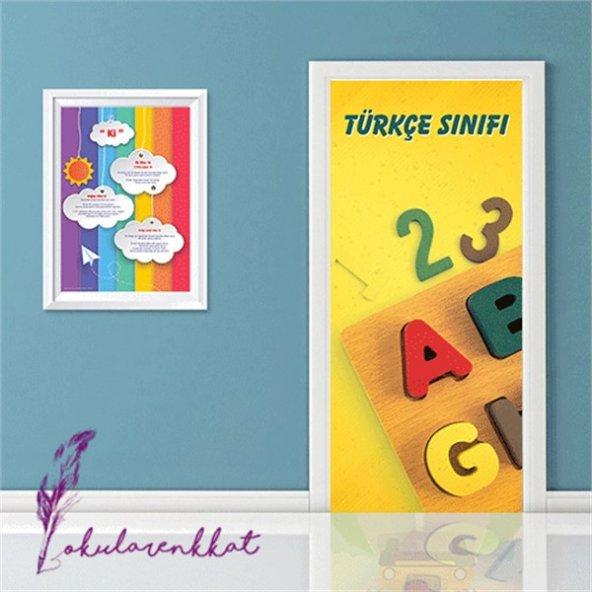 Türkçe Sınıfı Kapı Giydirme
