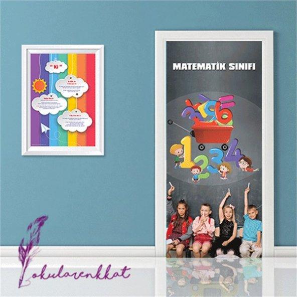 Matematik Sınıfı Kapı Giydirme