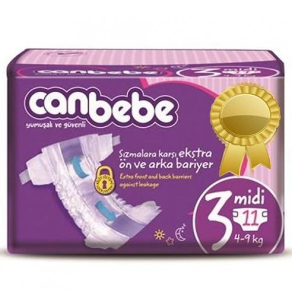 Canbebe Comfort Dry 3 Numara Midi 11 Adet