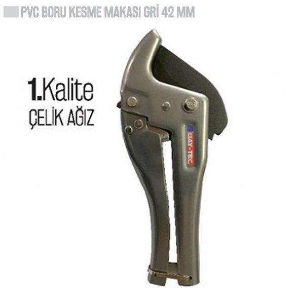 AKCAN BAY TEC PVC BORU KESME MAKASI GRİ 42 MM