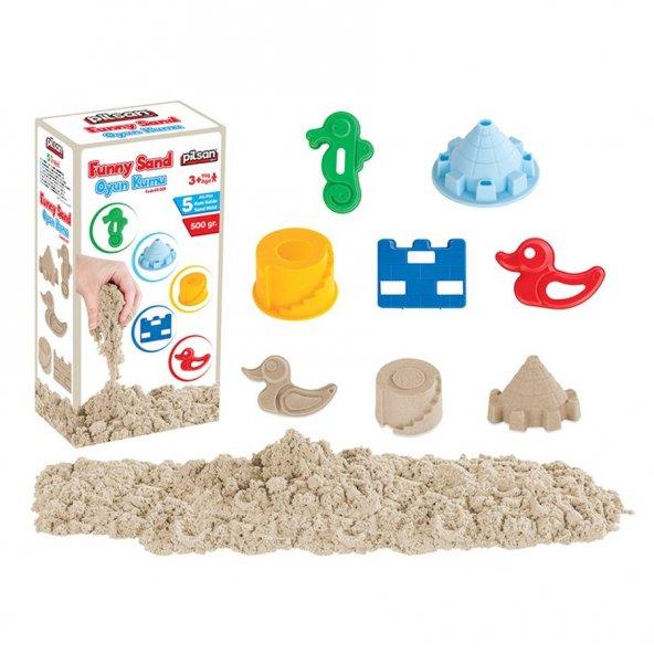 Pilsan Funny Sand Oyun Kumu 5 Kalıp (500gr) Kutulu  BJ-2101021