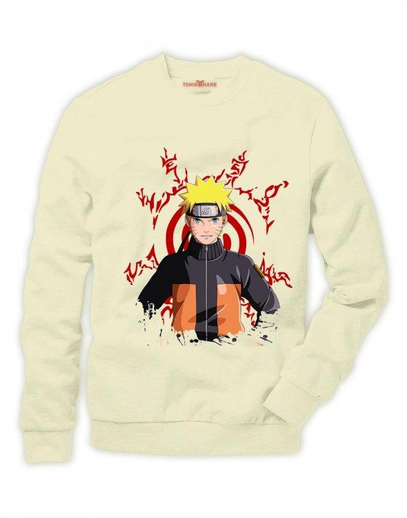 Tshirthane Naruto Kakashi Manga Anime Sweatshirt Uzunkollu