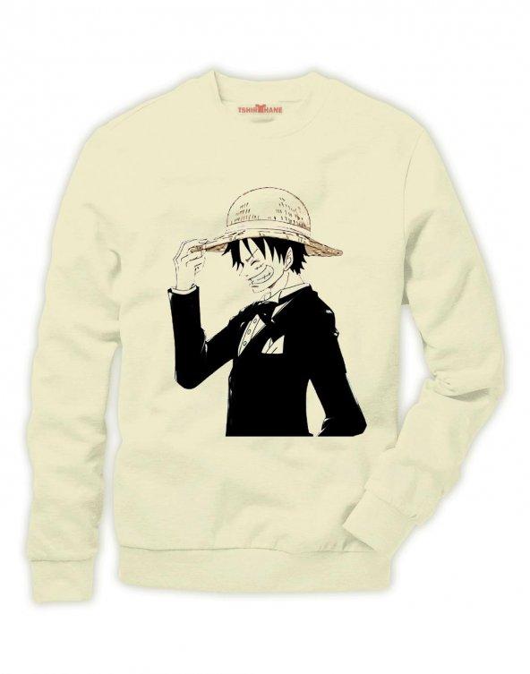 Tshirthane One piece Luffy Nami zoro ...  Sweatshirt Uzunkollu