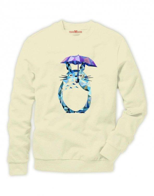 Tshirthane Komşum Totoro My Neighbor Sweatshirt Uzunkollu