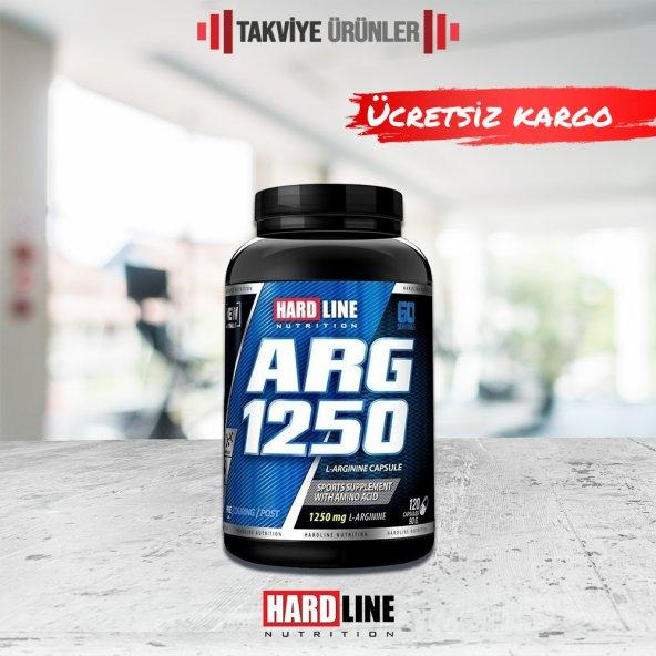 Hardline ARG 1250 Arginine 120 Kapsül Arjinin