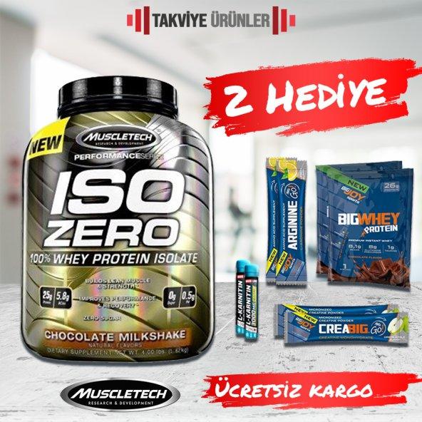 Muscletech Iso Zero 100% Whey Protein Isolate 1816 gr + 2 Hediye