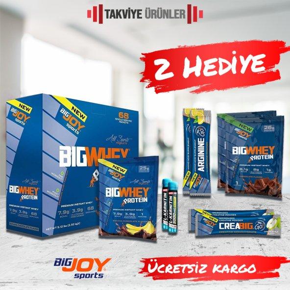 Bigjoy Bigwhey 2244 gr 68 Saşe Whey Protein Tozu + 2 Hediye