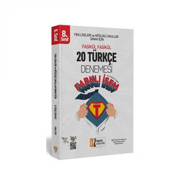 8. Sınıf LGS Farklı İsem T&uumlrk&ccedile 20 Deneme İsem Yayıncılık ÜCRETSİZ KARGO