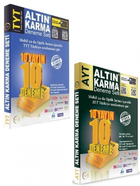 Altın Karma TYT 10 ve AYT 10 Deneme Seti 10 Farklı Yayın 10 Farklı Deneme