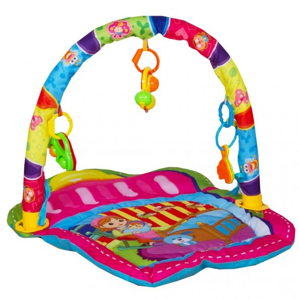Babycim Oyun Halısı Çıngıraklı Yenidoğan Pembe