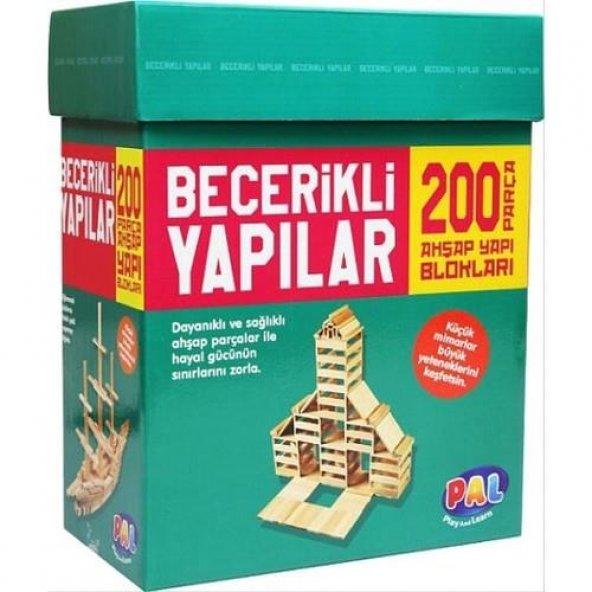 Becerikli Yapılar 200 Parça (Ahşap Yapı Blokları) orjinal oyun