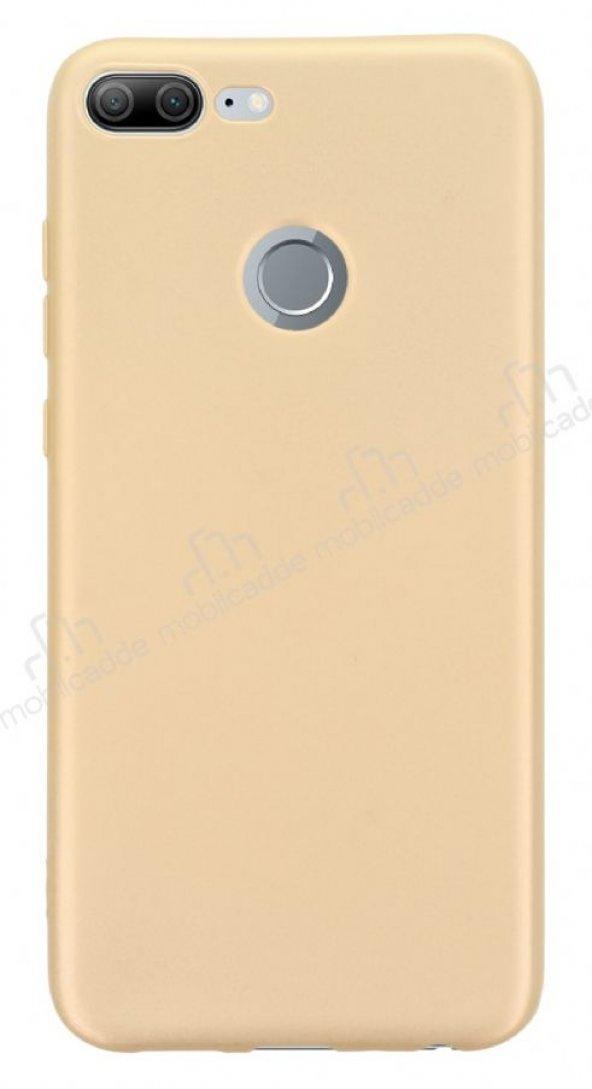 Honor 9 Lite Mat Gold Silikon Kılıf