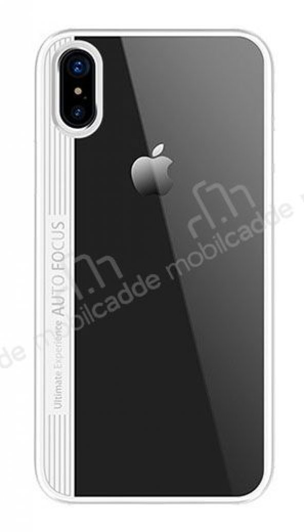 Joyroom Phantom iPhone X / XS Beyaz Silikon Kenarlı Rubber Kılıf