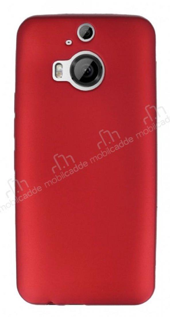 HTC One M9 Plus Mat Kırmızı Silikon Kılıf