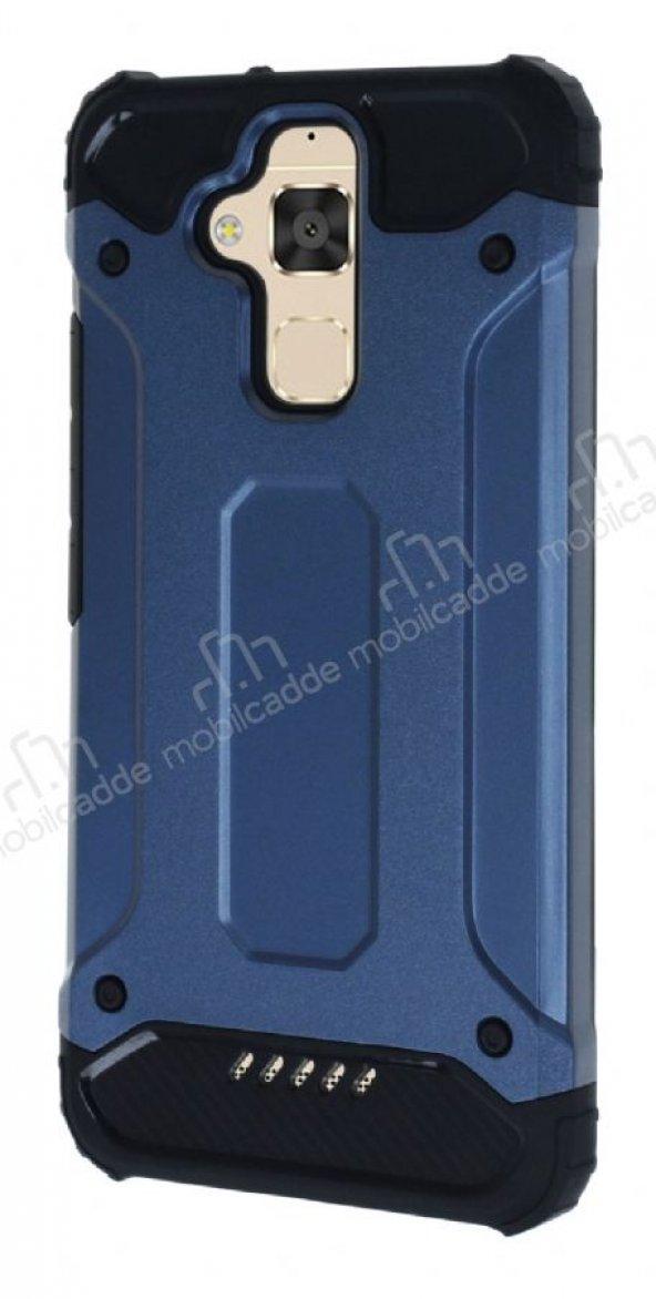 Dafoni Asus Zenfone 3 Max ZC520TL Ultra Koruma Lacivert Kılıf