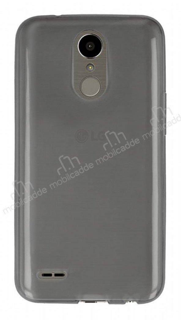 Eiroo LG K10 2017 Ultra İnce Şeffaf Siyah Silikon Kılıf