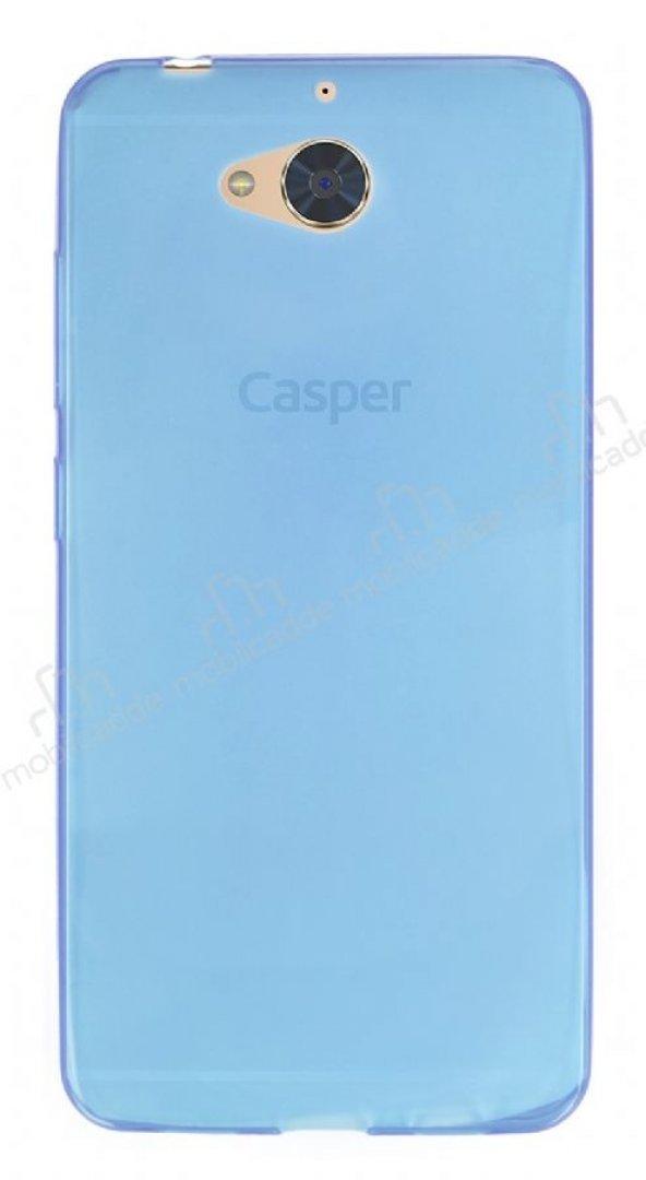 Casper Via A1 Ultra İnce Şeffaf Mavi Silikon Kılıf
