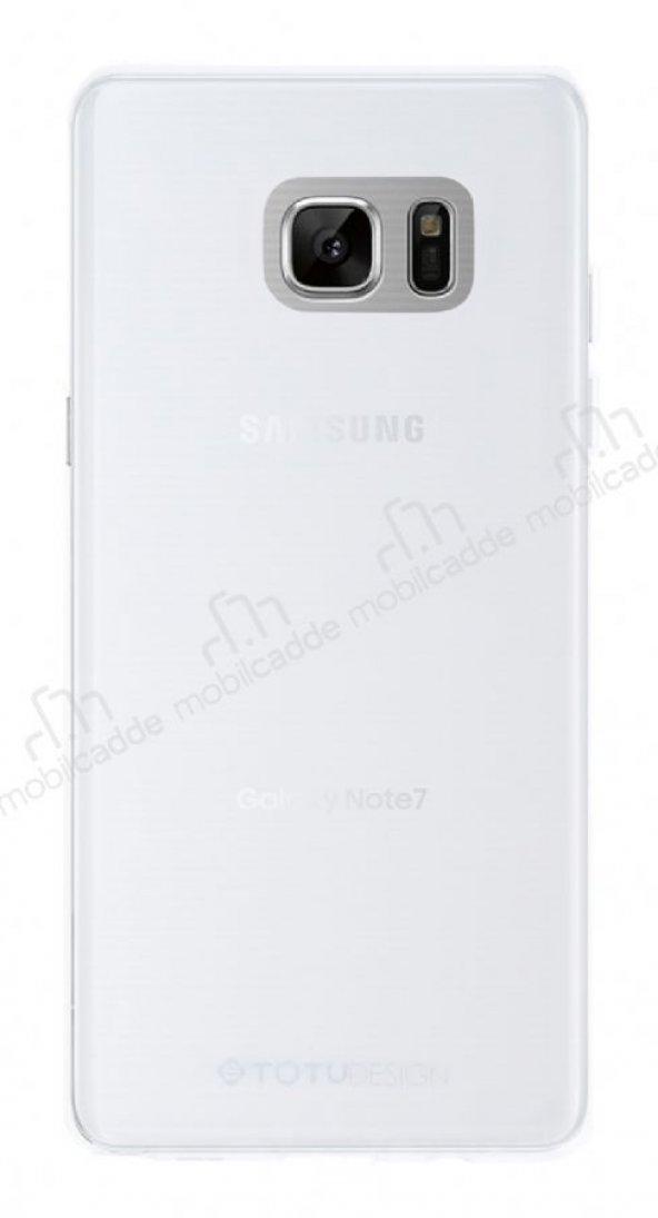 Totu Design Soft Samsung Galaxy Note FE Şeffaf Silikon Kılıf