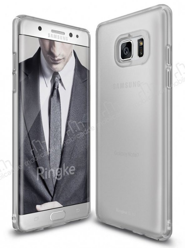 Ringke Slim Frost Galaxy Note FE 360 Koruma Gri Rubber Kılıf
