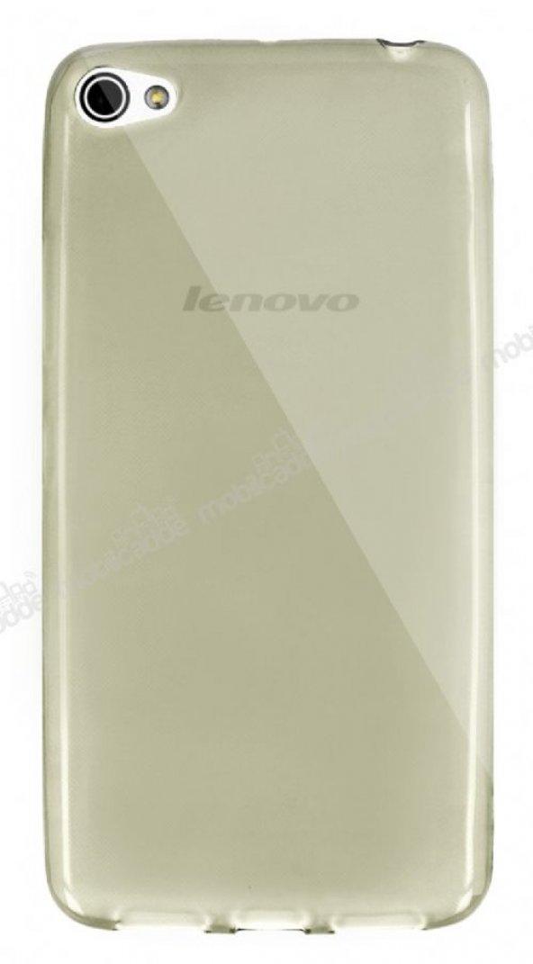 Dafoni Aircraft Lenovo S60t Ultra İnce Şeffaf Gold Silikon Kılıf