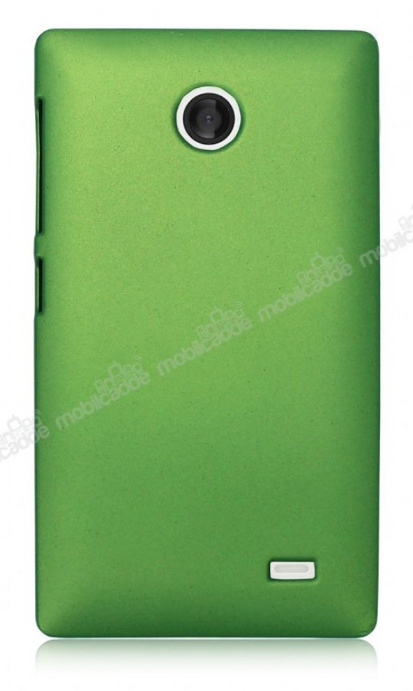 Nokia X / X Plus Sert Mat Yeşil Rubber Kılıf