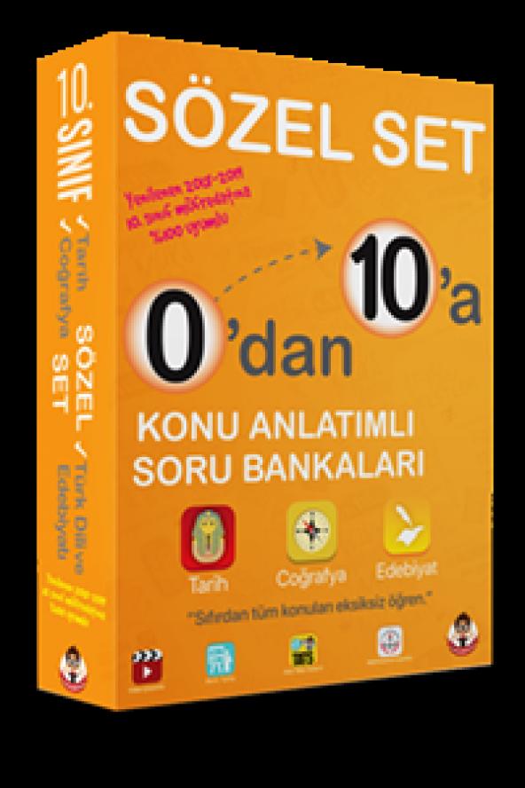 Tonguç Yayınları 10. Sınıf 0'dan 10'a Konu Anlatımlı Soru Bankası Sözel Set