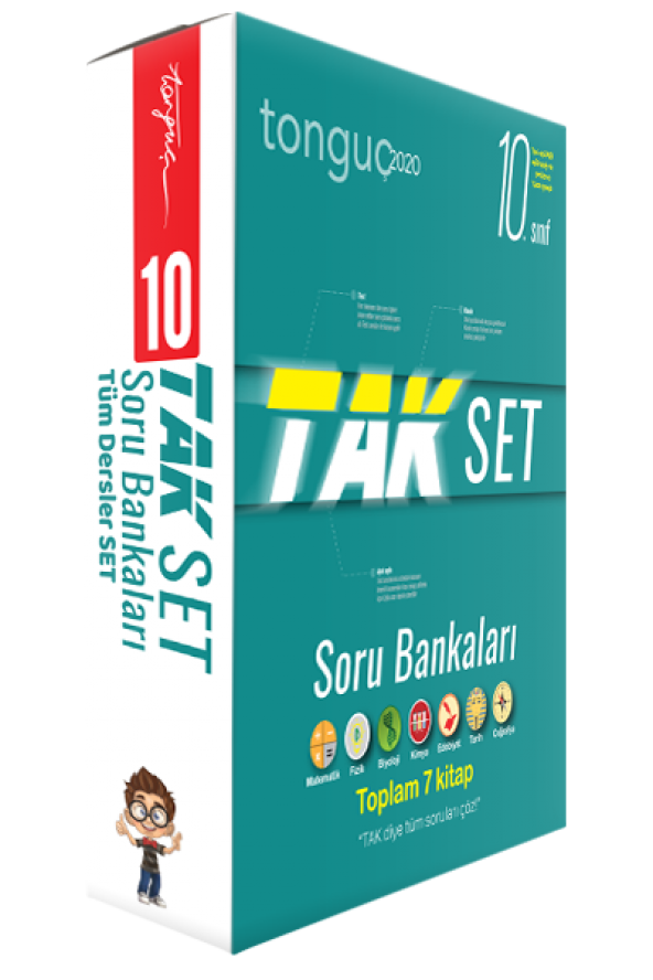 TONGUÇ 10.SINIF TAK TÜM DERSLER SORU BANKASI SETİ 7 KİTAP 2020