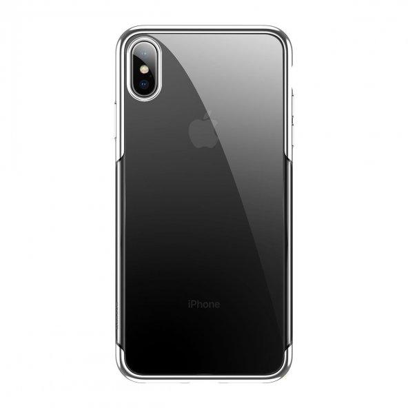 iPhone XS Max Kılıf Baseus Glitter Beyaz
