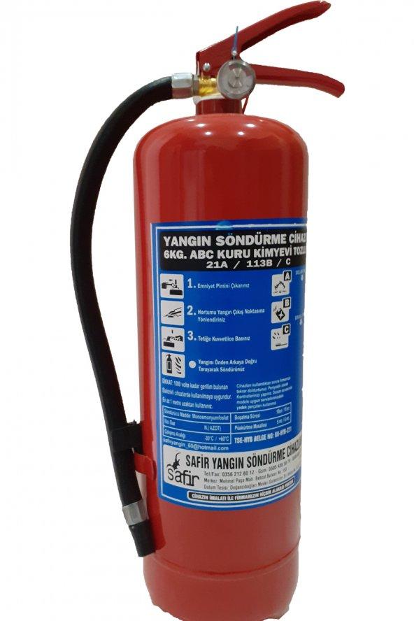 Yangın söndürme tüpü söndürücü 6 kg-kuru tozlu