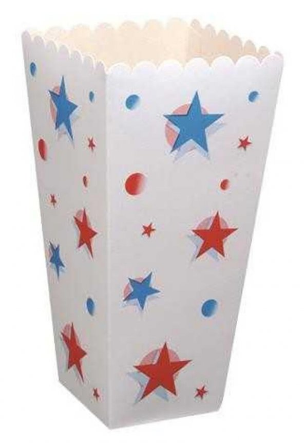 Popcorn Mısır Kutusu Büyük Boy 100 adet