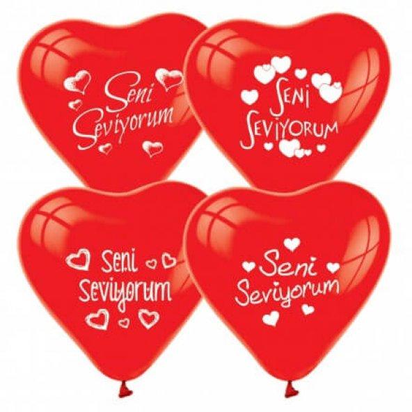Balon Kalpli Seni Seviyorum 100 Adet