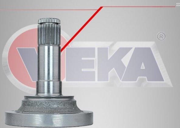 Aks Kafası Sol Ön İç Fiat Albea 1.3 Mjt   Freze Diş 24 Uzunluk 118,5Mm 03_07 Arası