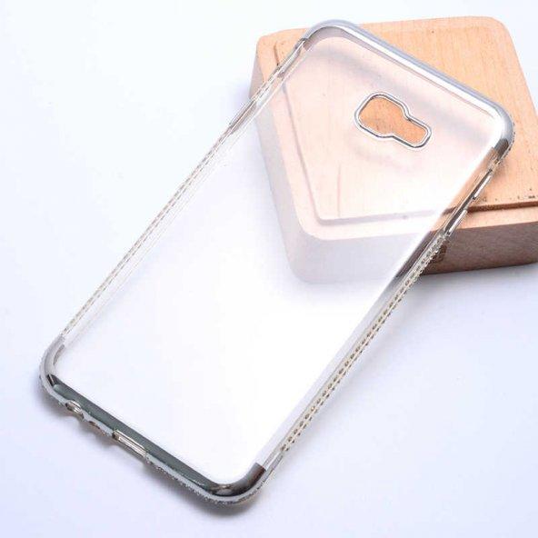 Samsung Galaxy J4 Plus Kılıf Olix Tek Sıra Taşlı Silikon