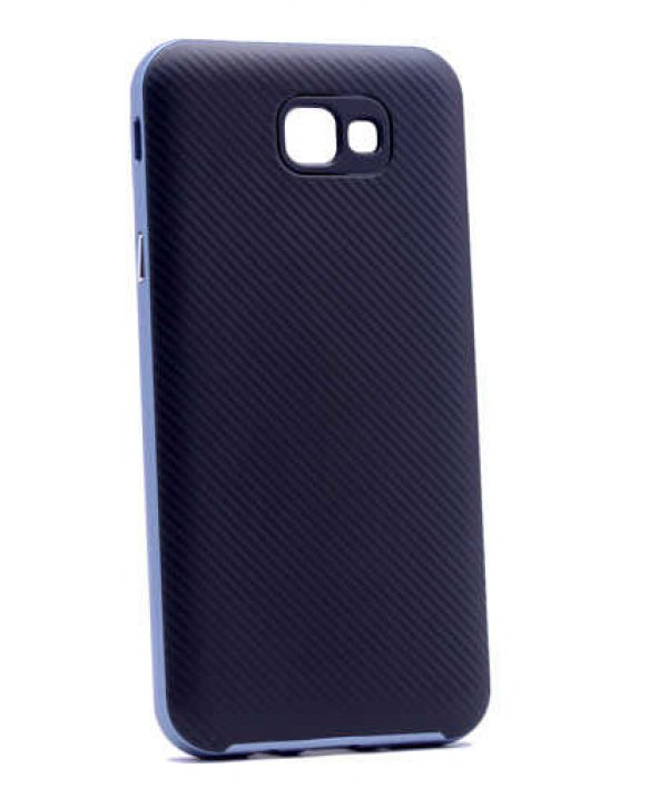 Samsung Galaxy J7 Prime Kılıf Olix İnce Mono Karbon Silikon Kapak