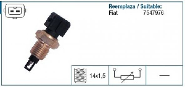 Hararet Müşürü Siyah FiatTempra Tipo 2.0