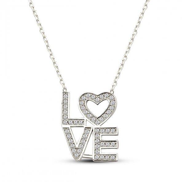 925 Ayar Gümüş Love Kolye