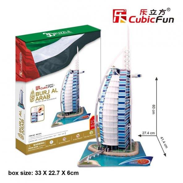 Cubic Fun 3D 101 Parça Puzzle Burç El Arap - Dubai