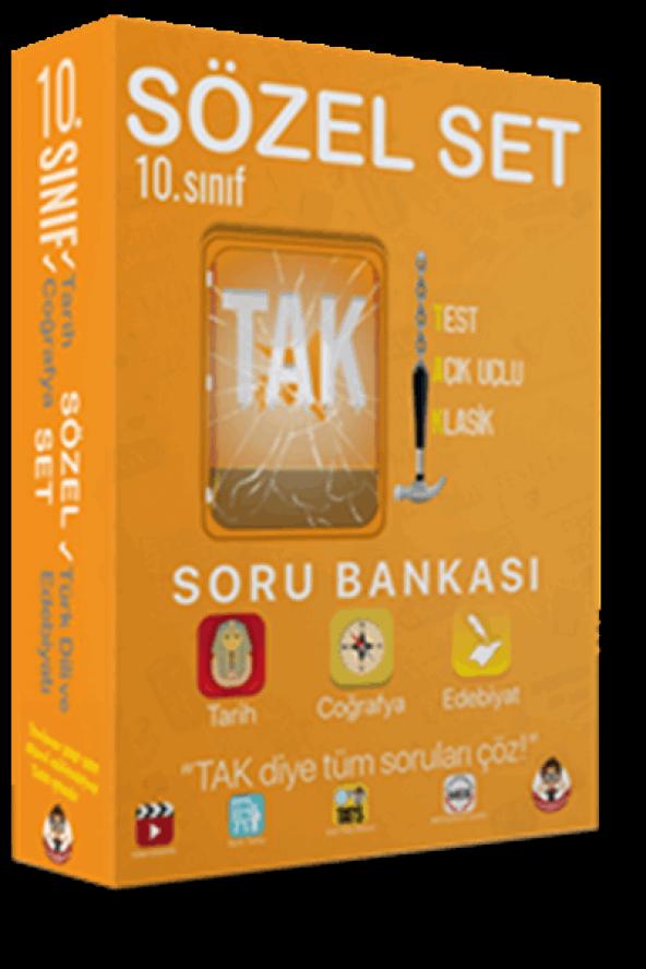 Tonguç Yayınları 10. Sınıf TAK Soru Bankası Sözel Set