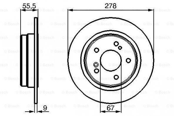 Mercedes C180K 203 1.8 2002-2007 Bosch Arka Fren Diski  2 Adet