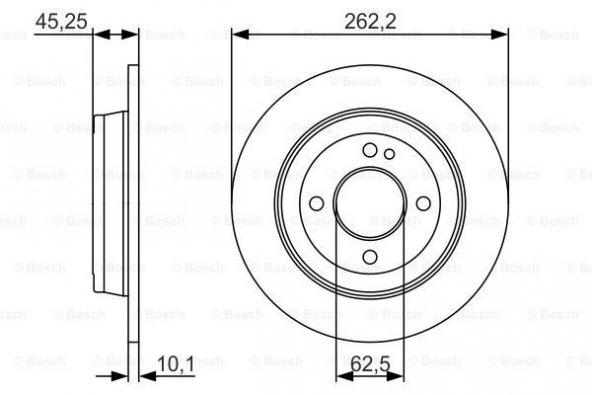 Hyundai i20 1.4 2014-2019 Bosch Arka Disk 2 Adet