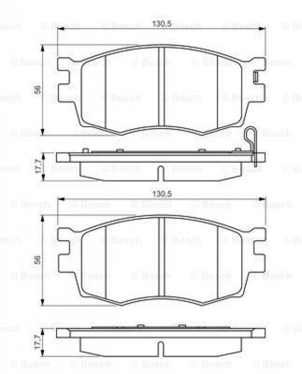 Hyundai i20 1.4 CRDi 2009-2012 Bosch Ön Fren Balatası