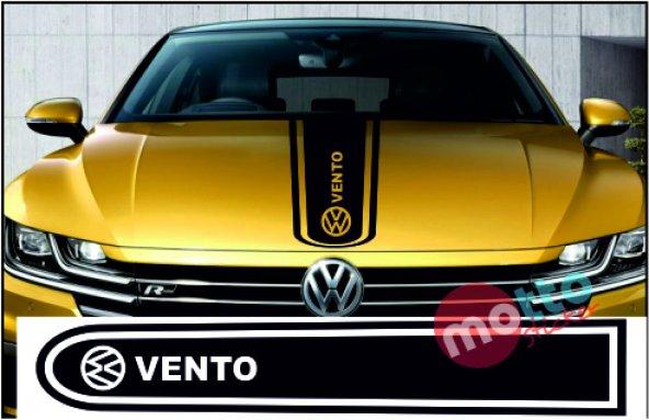 Volkswagen Vento Logolu Otomobil Ön Kaput Şeridi Kaput Sticker