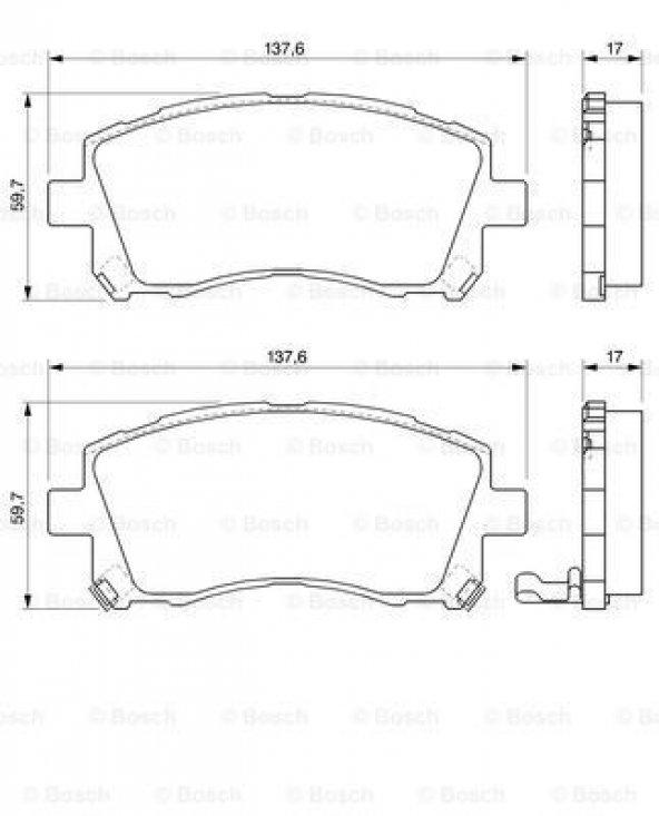 Subaru Impreza 2.5 2001-2003 Bosch Ön Fren Balatası