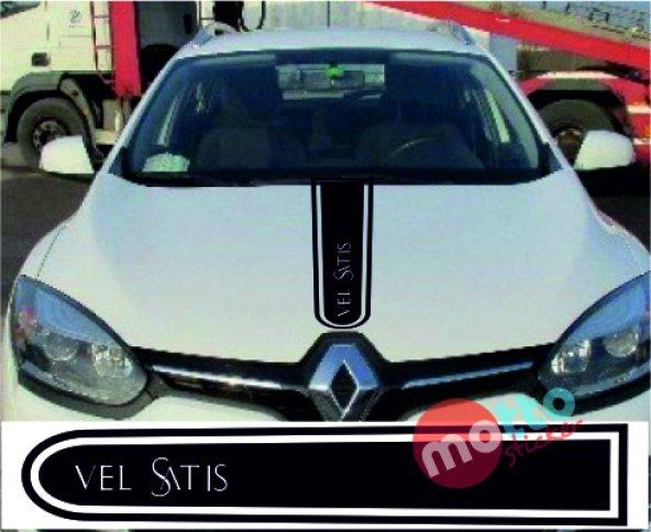 Renault Velsatis Logolu Otomobil Ön Kaput Şeridi Kaput Sticker