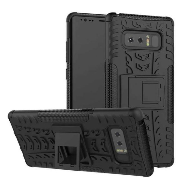 Edelfalke Samsung Galaxy Note 8 Kılıf Hibrit Silikon Siyah