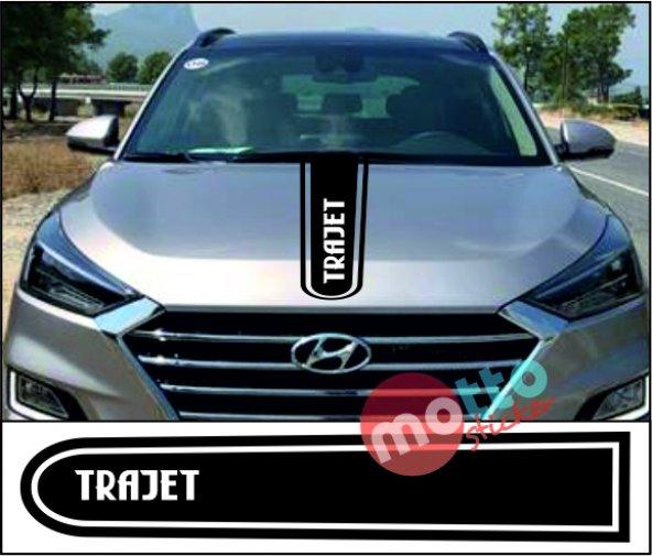Hyundai Trajet Logolu Otomobil Ön Kaput Şeridi Kaput Sticker