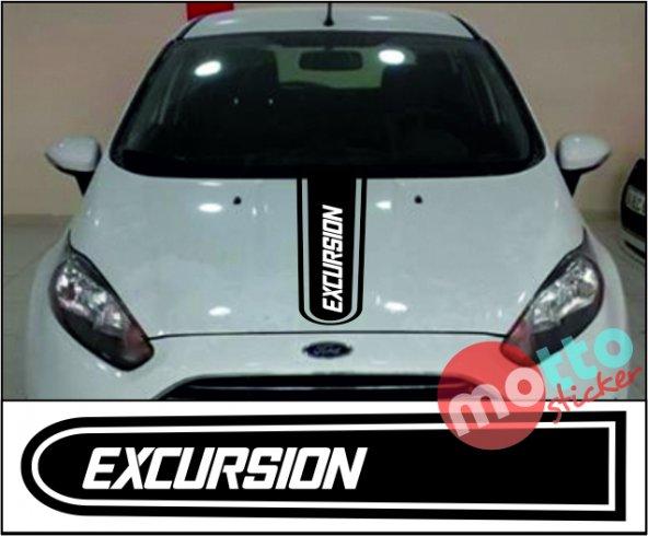 Ford Excursion Logolu Otomobil Ön Kaput Şeridi Kaput Sticker