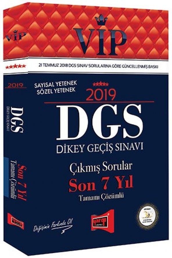 Yargı Yayınları 2018 DGS VIP Sayısal - Sözel Yetenek Son 7 Yıl Tamamı Çözümlü Çıkmış Sorular